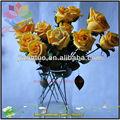 Atacado barato amarelo decorativo flor rosa