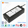 100-240VAC to DC 24v power supply 2.5a 60w power adapter Class 2