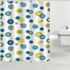 Color dots printed bath shower curtain, fabric for curtains, polyester fabric