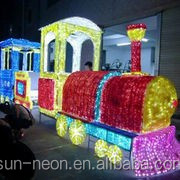 Outdoor Colourful Christmas Train Lights Sculpture Led Motif Light With Ce Rohs