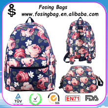Factory wholesale female canvas middle school students waterproof laptop backpack to be customized