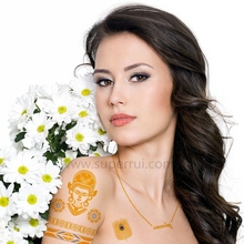 2015 Eco-friendly gold foil tattoo stickers for body art