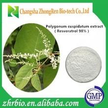 100% pure natural Resveratrol98% Polygonum cuspidatum extract powder