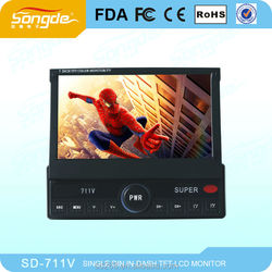 7 inch In Dash touch screen car DVD player with single din