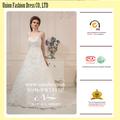 para cordón blanco patrones de vestido longitud del piso una línea esperanza Natural vestido de novia con una larga cola