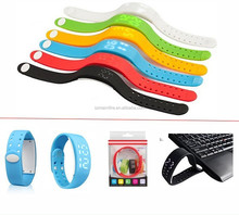 Silicone bracelet silicone wrist band w2 calorie pedometer watch with wristband