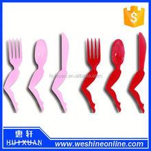 9PCS/SET Mini Leg Plastic Cultery Set Spoon/Fork/Knife