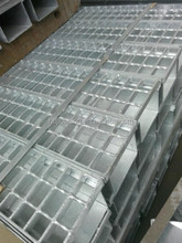 water drainage channel with steel grating