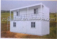 modular container house with steel structure frame