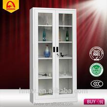 glass door display steel filing cabinet and vault with CE certificate