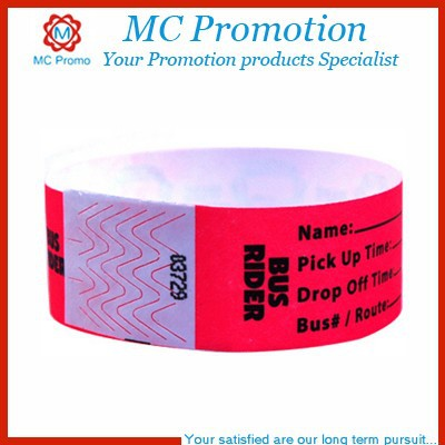 Customized writing paper wristbands cheap