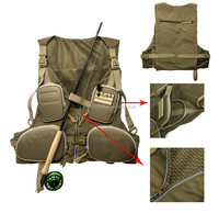 Wholesale price and best quality custom fly fishing vest