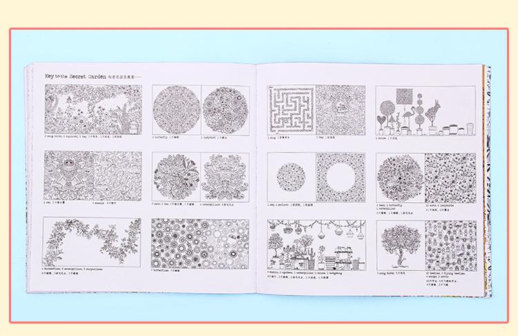 Jardín Secreto personalizado libro para colorear con lápices de ...