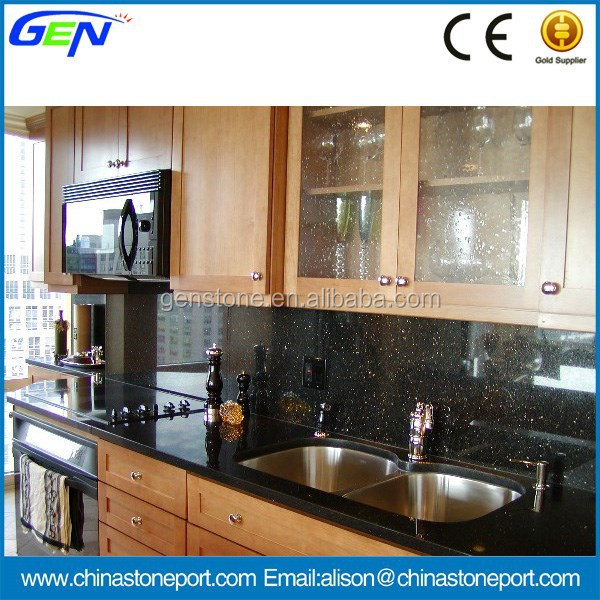 Cheapest Place To Buy Granite Countertops : Cheap Polished Black Galaxy Granite Kitchen Countertop - Buy Cheap ...