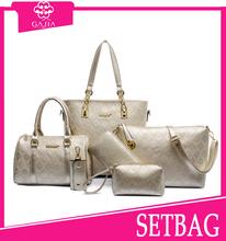 2015 new arrival 6PCs/Set Leather Retro Women Handbag Vintage Shoulder bag Tote Satchel bag Purse designer handbag from China