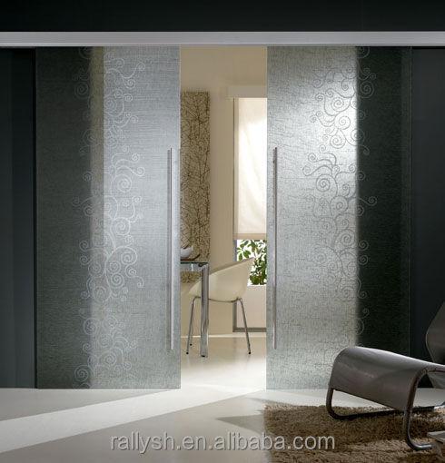 Tempered Clear Glass Interior Sliding Barn Doors Aluminum Alloy Hardware View Aluminum Folding