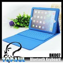 2014 precio más barato teclado bluetooth inalámbrico para ipad de aire con cuero de la pu caso
