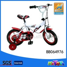 2015 12' kids bicycle/kid's bike with four wheel children's bike red color
