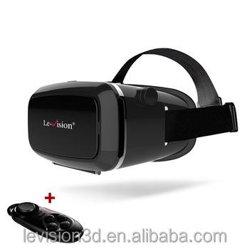 لو-- الرؤية المحمولة 3d الواقع الظاهري hmd نظارات مع البعيد بلوتوث 3d vr الحرسماعات 3d تحكم vr مع بلوتوث نظارات