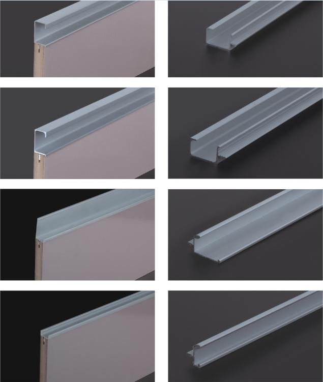 Perfiles de aluminio para la cocina borde la puerta del gabinete de ...