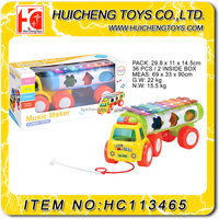 Safety plastic colorful puzzle car pushing musical instruments wholesale toys EN71,7P