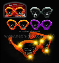 novelty gift Halloween flashing sunglasses with 10 LEDS