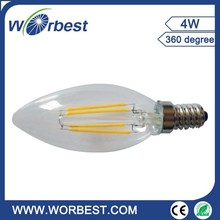 A60 4w dimmable filament bulb led china supplier