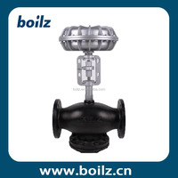 Stainless steel 3 way electric operated gas flow control valve