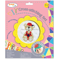 Hand embroidery kits and crafts for kids with EN71