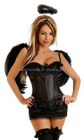 new arrival sexy plus size corset for fat women black corset halloween costume