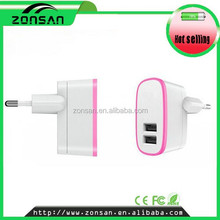 Alibaba wholesale abs rapid speed dual usb wall charger cell phone for smartphone