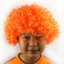 Hot sale cheap short curly afro fans wig