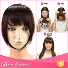 hairpiece fringe hair bangs, clip on bangs for black women,side swept hair bangs lace closure