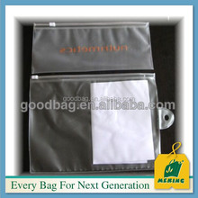 clear pvc zipper pipe handle tote ziplock bags