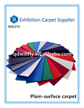 high-quality polyester needle punched slip-resistant plain moquette exhibition carpet