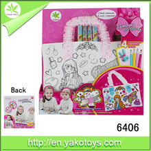 Wholesale creative DIY intelligent colored drawing bag ,washable painting for kids ,custom design