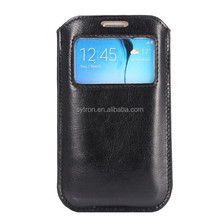 New products for 2016 smartphone leather pouch for samsung s6 edge plus flip cover