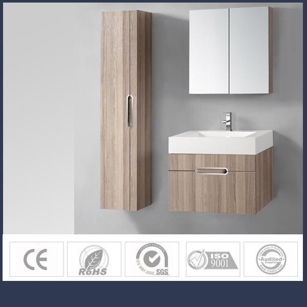 Brilliant 2017 Wholesale Wood Bathroom Cabinet With Mirror For Hotel Bathroom