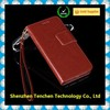 Price low genuine for iphone wallet leather case brown