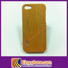 For iphone 5 100% nature wooden case, cherry wooden phone case, OEM logo
