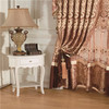 2014 fabric german curtain, double pieces blocking curtain,heavy curtain with drape valence