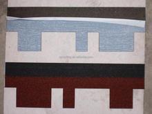 colorful fiberglass asphalt roofing tiles