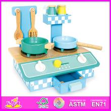 2015 New play children kitchen,promotional wooden kids kitchen toy,intelligent wooden kitchen set with EN71 certificate W10C063