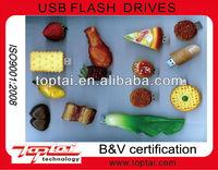 2013 plastic food simulation series of usb flash pen drive