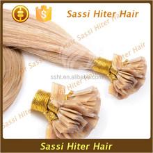 Italian Fusion Keratin Hair Pre Bonded Hair Extensions Flat Tip Hair