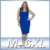 Plus size women clothing sleeveless knee length cotton latest dress designs summer big size dress clothing manufacturers