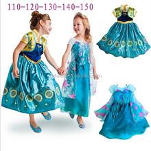 2015 Choose size available spring flower stock birthday frozen elsa dresses wholesale