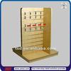 TSD-W449 Custom retail store 3 way floor slatwall display shelves,counter hook display stand,supermarket goods display