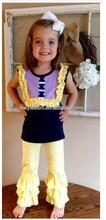 baby girl boutique clothing sets girls dark blue clothing sets kids cotton 2pcs sets