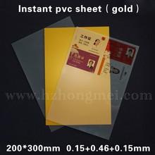 2015 HOT sale instant PVC card material (golden)(Inkjet Printable for Epson printer)